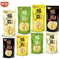 网红零食猴菇薄片42g*8袋