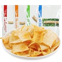 网红洽恋山药脆片办公休闲薯片4*80g