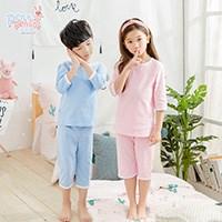 100%纯棉儿童短袖睡衣套装