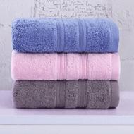 馨牌长绒棉毛巾3条装 粉/蓝/灰34*76cm +凑单品