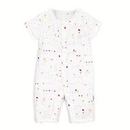 全棉时代婴幼儿纱布连体服 *2件