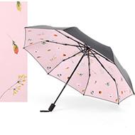 帕洛奇 花物语系列 三折伞遮阳伞 米白色