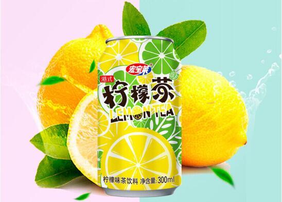 宏宝莱港式柠檬茶300ml*24*3件显存平面设计图片