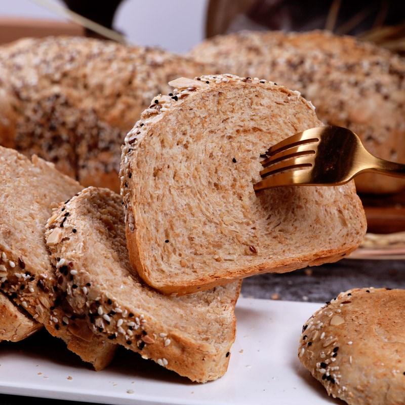 无蔗糖无油全麦面包600g