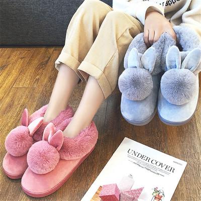 ins可爱厚底棉鞋加绒小短靴