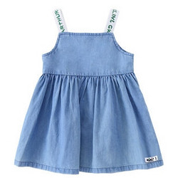 铅笔俱乐部 女童背带连衣裙