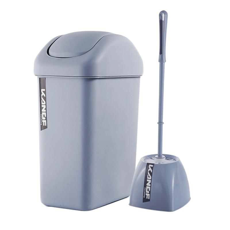 【康丰】时尚摇盖加厚垃圾桶