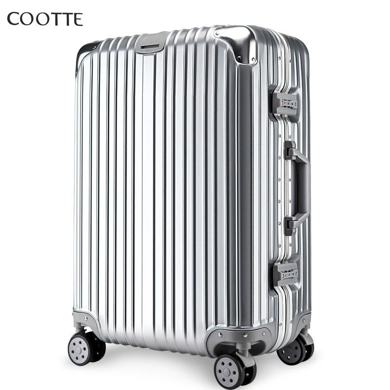 行李箱铝框拉杆箱万向轮旅行箱