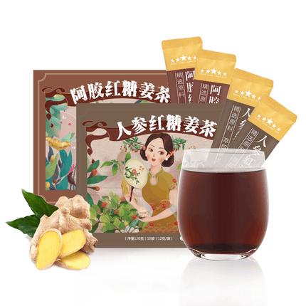 觅语人参阿胶红糖姜茶20袋