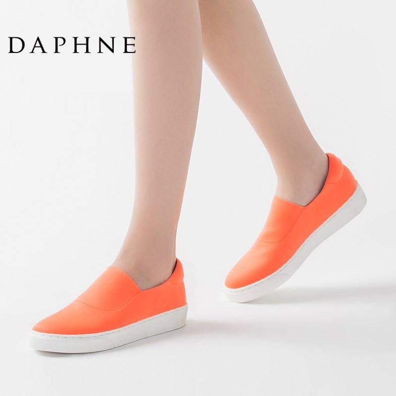 达芙妮 女子 一脚蹬潮流布鞋