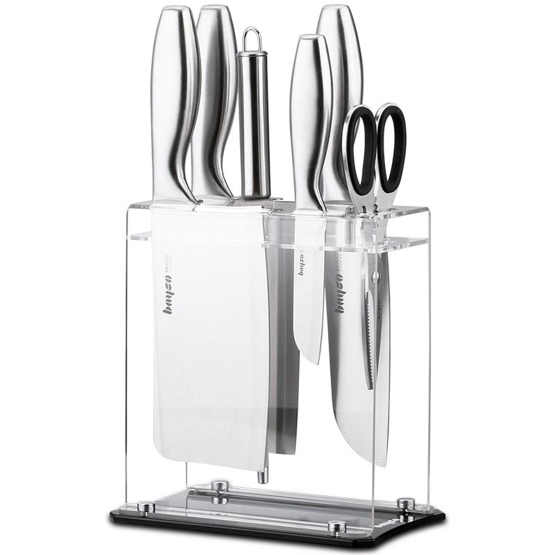 拜格厨房不锈钢刀具七件套