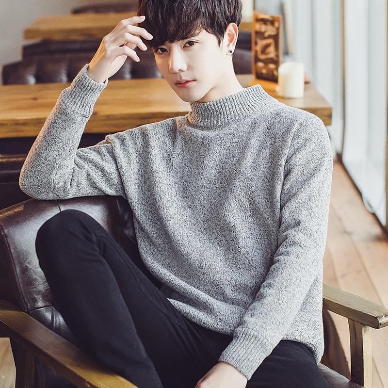 普丝纳时尚针织圆领毛衣
