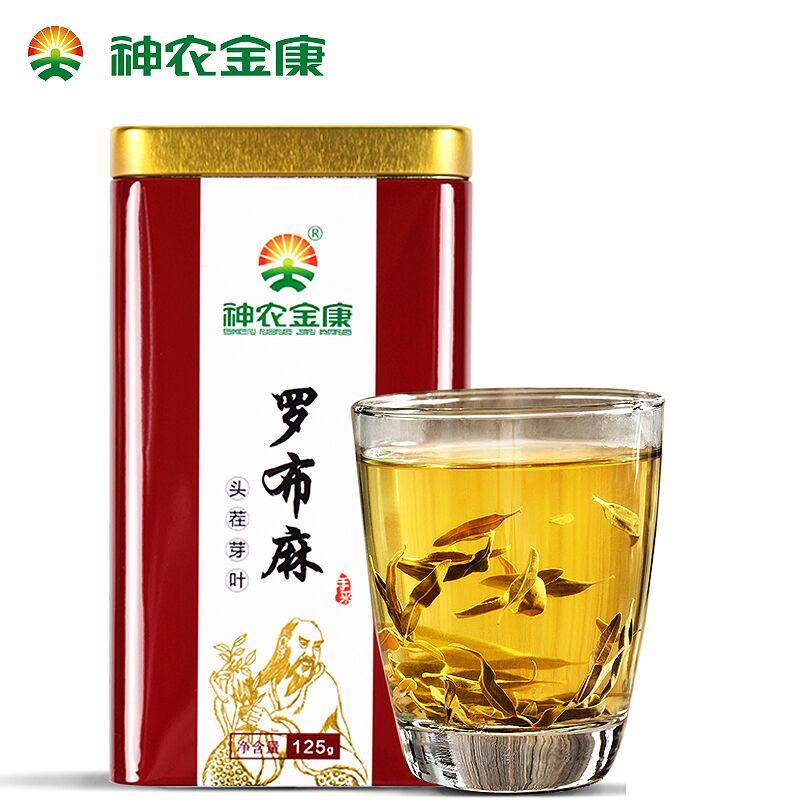 神农金康特级罗布麻茶铁盒装125g