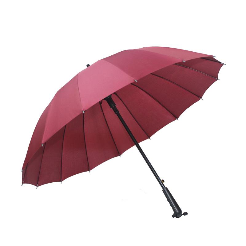 安巢长柄伞16骨强力抗风晴雨伞