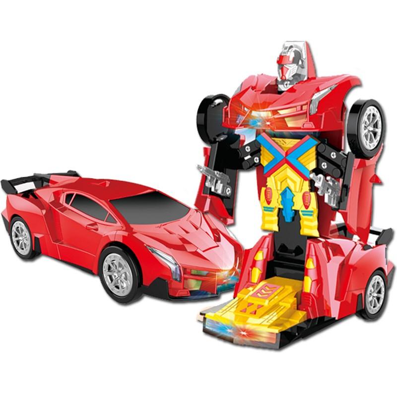 变形汽车儿童玩具音乐机器人