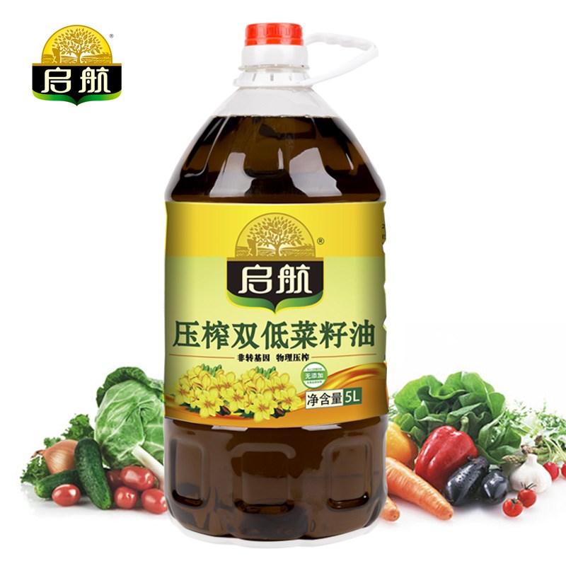 健康好油!启航双低菜籽油5升