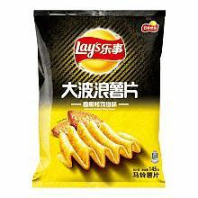 乐事 香脆烤鸡翅味 大波浪薯片*10件