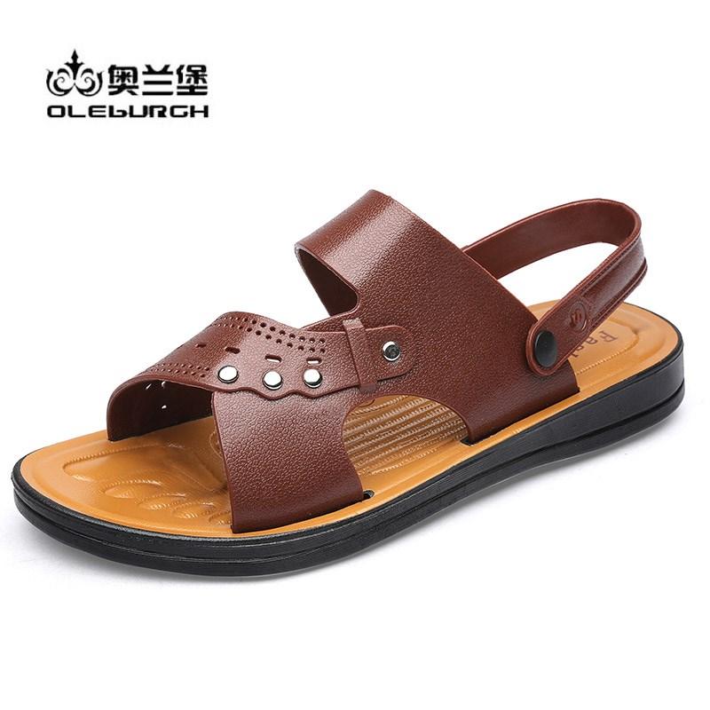 奥兰堡男士夏季透气防滑沙滩凉鞋