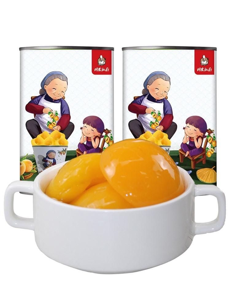 同发私厨糖水黄桃罐头425g*5罐