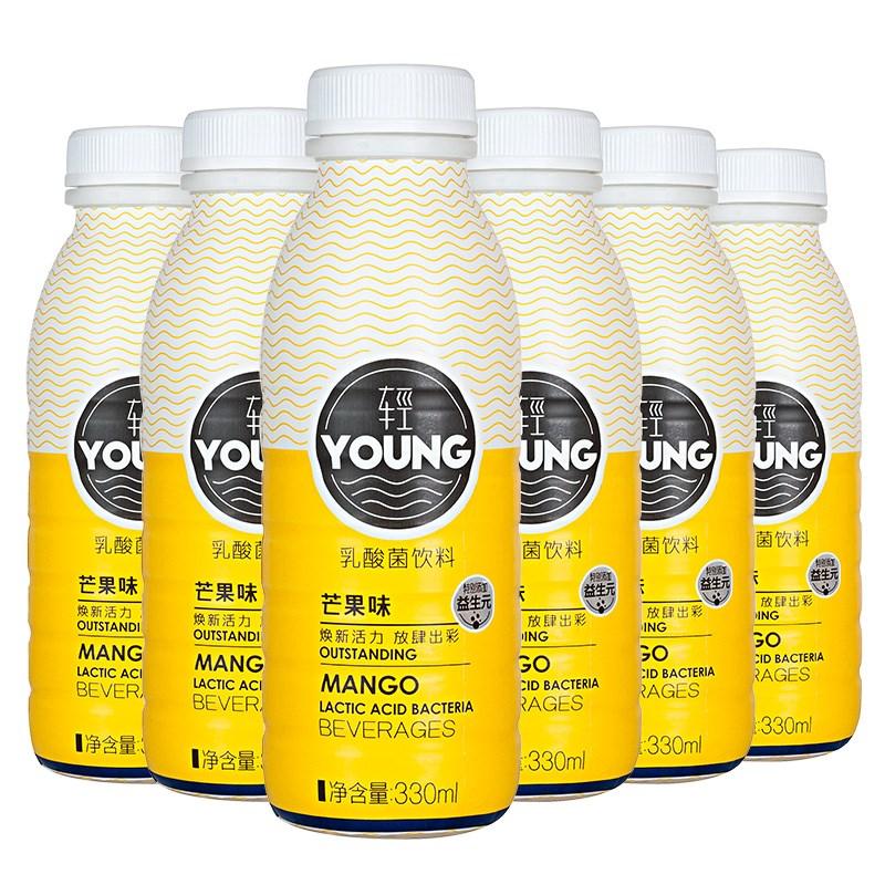 华山牧轻young乳酸菌330ml*6瓶