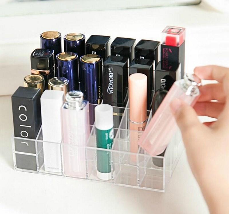 口红化妆品24格透明收纳盒
