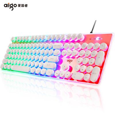 爱国者水晶发光悬浮键盘