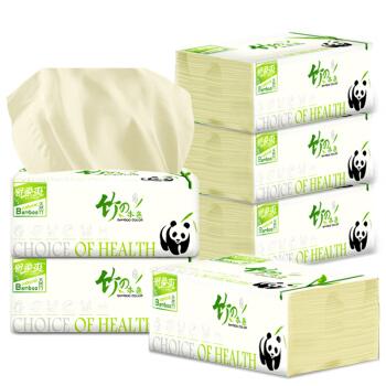 妙爱熊猫本色抽纸3层112抽*6包