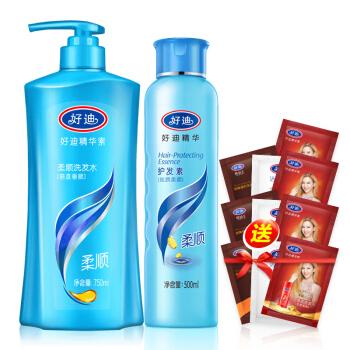 好迪洗发水750ml+护发素500ml