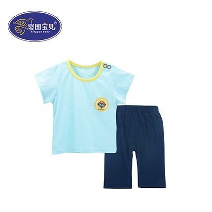 纯棉儿童短袖两件套