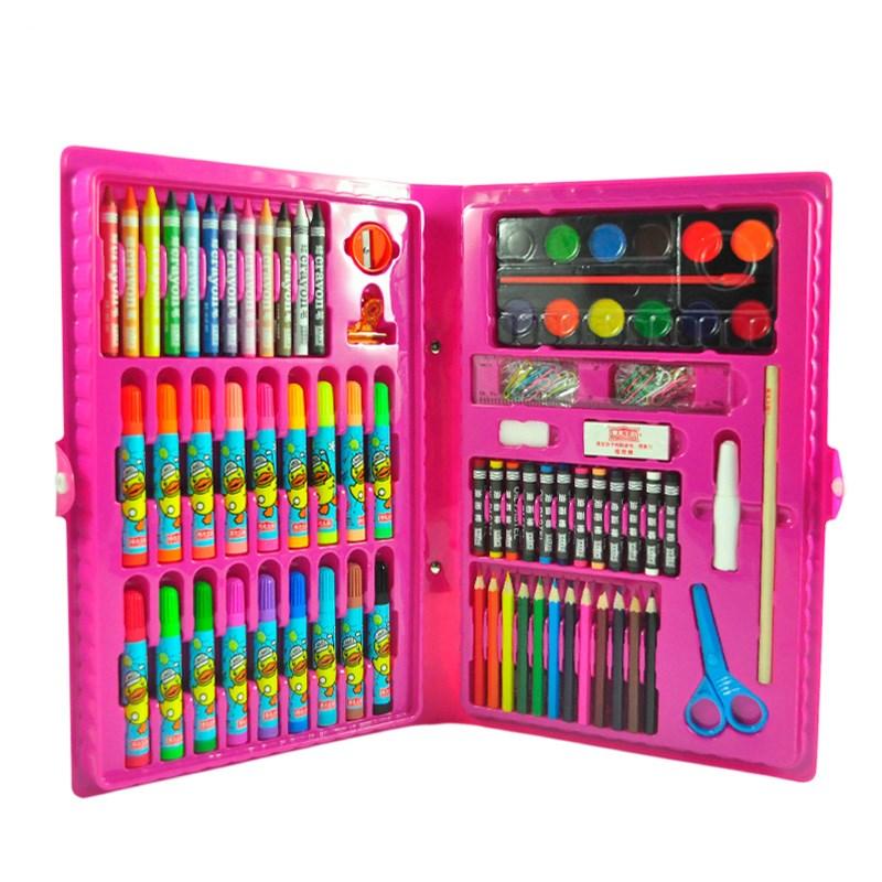 美术王国蜡笔水彩笔98件文具套装