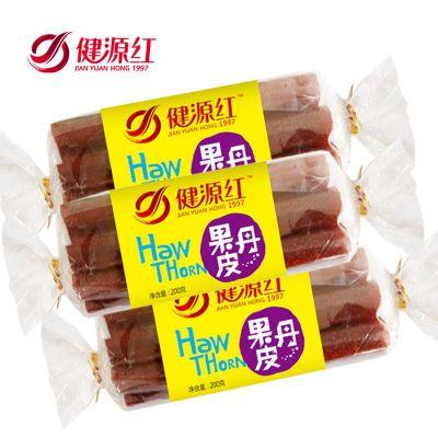 健源红山楂卷果丹皮200g*3袋