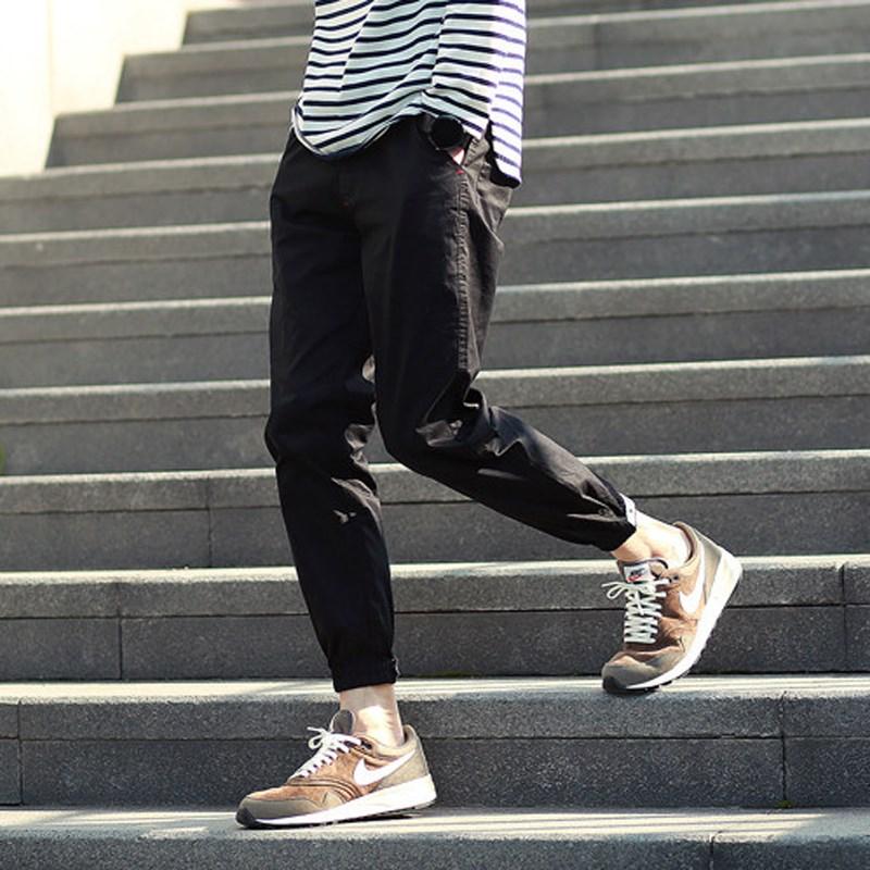 ins男夏季韩版小脚裤