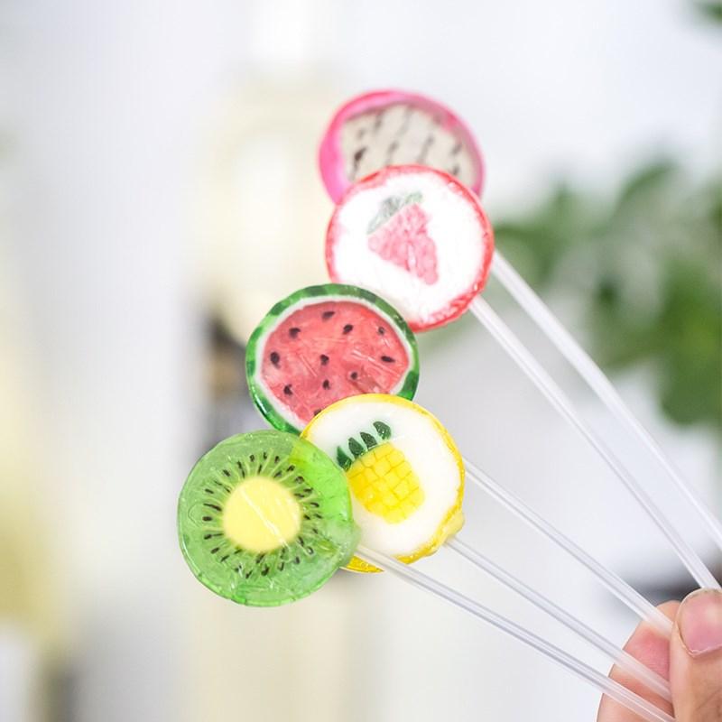 水果棒棒糖切片糖20支