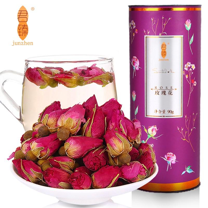 大朵玫瑰花茶罐装花茶90克