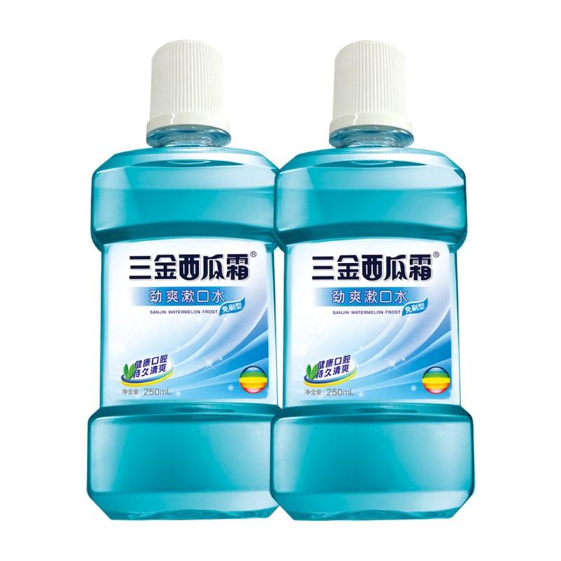 三金西瓜霜防蛀漱口水2瓶