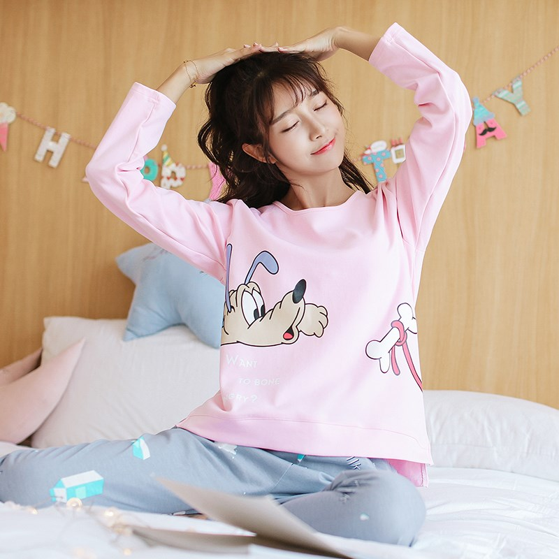 【依蕾斯】100%纯棉卡通韩版家居服套装
