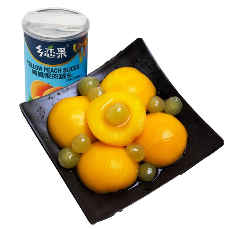 手工黄桃罐头425g*5罐
