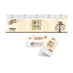 清风 手帕纸 迷你型3层10张*10包