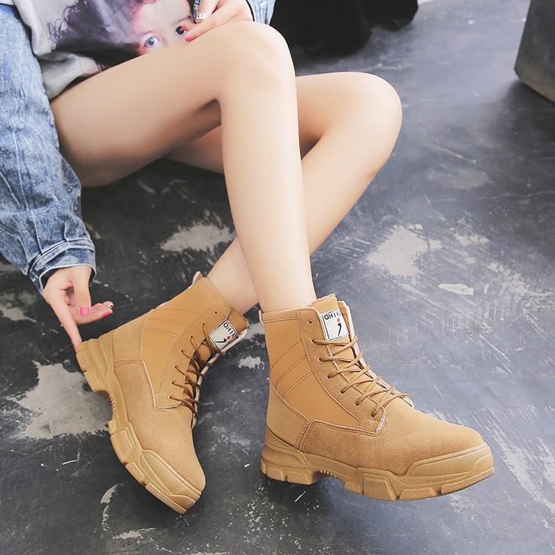 冬季加绒百搭马丁靴