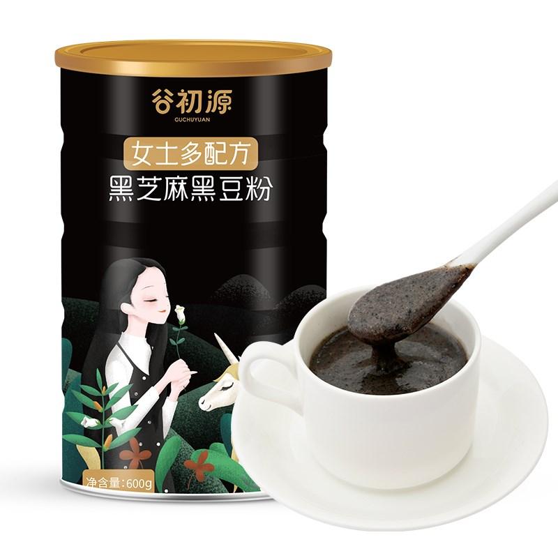 谷初源黑芝麻核桃黑豆粉512g